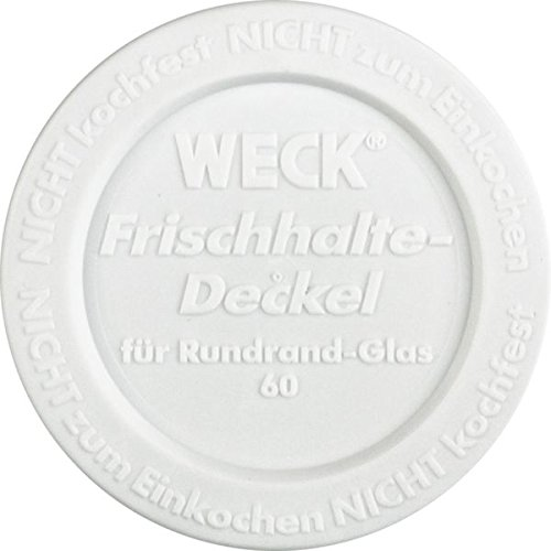 Weck Airtight Plastic Lid – Diameter 60 mm – White – Pack of 5 6409