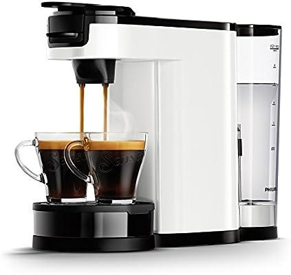 Senseo HD6592/01 - Cafetera (Independiente, Cafetera de filtro, 1 L, Dosis de café, De café molido, 1450 W, Negro, Acero inoxidable, Blanco): Amazon.es: Hogar