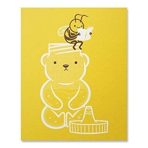 (Making Honey Print/Bee Print/Honey Print/Funny Insect Wall Art/Bee Art Print/Home Decor / 8 x 10 /)