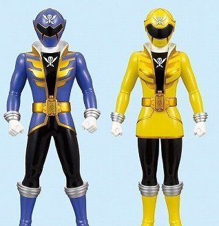 Pirate squadron Gokaiger DX Soft Vinyl Figure 1 in blister Gokai Red excl set of 2 (Red Gokai)
