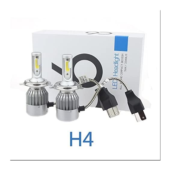 AOW Attractive Offer World C6 H-4 All in One Compact Design 36W/3800LM LED Headlight Conversion Kit Car High/Low Beam