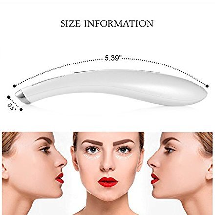 Pretty See Sonic Eye Massager Wand Anti-ageing Wrinkle Device High-frequency Vibrating Massager FDA Registered, White