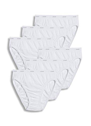 (Jockey Women's Underwear Plus Size Classic French Cut - 6 Pack, White, 11)