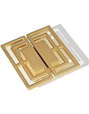 8 stuks gouden knoppen, kast lade trekt, stijlvolle gouden koperen knoppen, kaptafel knoppen, gouden kast knoppen, koper trekt twee gaten kleine knoppen