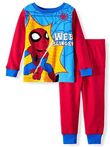 AME Marvel Spiderman Pajamas Web Slinger 2 Piece Sleep Set (3T), Red (Marvel Spider Man Web)