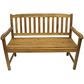 Amazon Com Vifah V416 Outdoor Wood Bench Natural Wood
