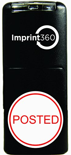 """Imprint 360 AS-IMP2012 Round Stamp POSTED In Circle, Red Ink, Durable, Light Weight Self-Inking Stamp, 5/8"""" Impression Area"""