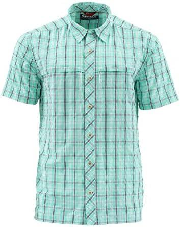 Simms メンズ ストーンコールドシャツ UPF 30 クイックドライ 半袖シャツ 涼しく保ちます 防臭テクノロジー 釣りシャツ メンズ フライボックス収納