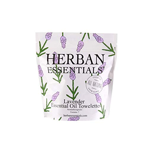 Herban Essentials Mini Towelettes, - Antibacterial Towelettes