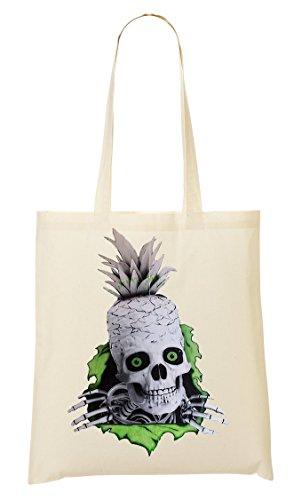 Pineapple Skull Handbag Shopping Bag