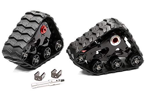 Integy RC Model Hop-ups T8633BLACKRED Rear Snowmobile & Sandmobile Conversion for Traxxas 1/10 Stampede 4X4, Slash 4X4