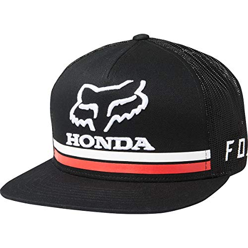 Fox Racing Honda Snapback Hat-Black (Racing Monster Fox Hoodie)