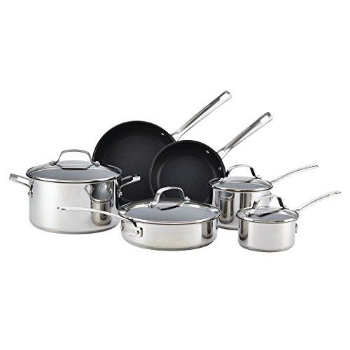 41VvhKIyGLL - Circulon Genesis Stainless Steel Nonstick 10-Piece Cookware Set