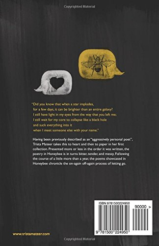 Honeybee A Collection Of Poems About Letting Go Trista Mateer
