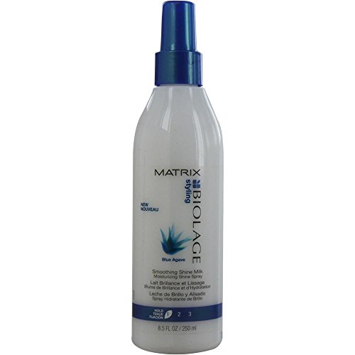 BIOLAGE by Matrix BLUE AGAVE SMOOTHING SHINE MILK 8.5 OZ UNISEX (Package Of 2) (Matrix Milk Smoothing Shine)