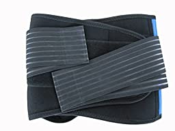 Secure Double-Pull Neoprene Lumbar Support Belt, XX-Large (42-46\'\'/106-116cm)