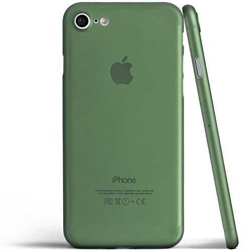 iPhone 8 Case, Thinnest Cover Premium Ultra Thin Light Slim Minimal Anti-Scratch Protective - For Apple iPhone 8 | totallee The Scarf (Deep - Thin Green
