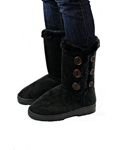 Sara Sara Z Microsuede Black Z Winter 10 Inch Ladies Boots d5dvrnp1q