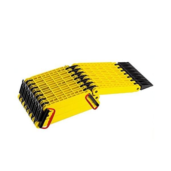 41Vvj2JGOcL Uniko 6in1 Faltrampe 2er Set, Kunststoff-Sandblech Traktionshilfe Anfahrhilfe Sandboard