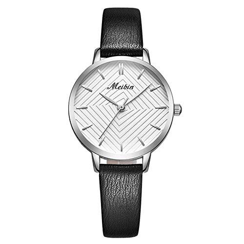 Womens Watch,Ladies Fashion Quartz Waterproof Soft Leather Band Watch for Woman (Black01)