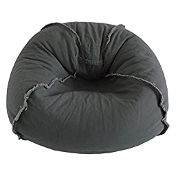 Ace Casual Furniture Large Canvas Bean Bag Chair with Exposed Seams