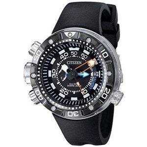 腕時計 Citizen Men's BN2029-01E Promaster Aqualand Depth Meter Analog Display Japanese Quartz Black Watch【並行輸入品】 B00PFNXOQE