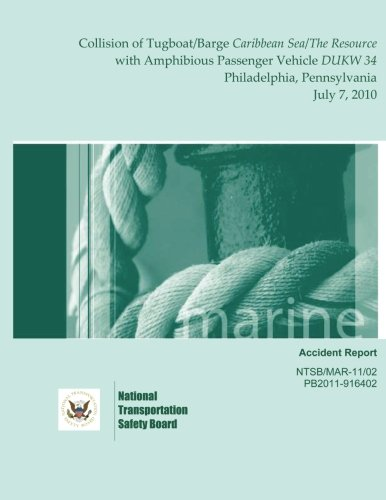 Download Marine Accident Report: Collision of Tugboat/Barge Caribbean Sea/The Resource with Amphibious Passenger Vehicle DUKW 34 Philadelphia, Pennsylvania July 7, 2010 ebook
