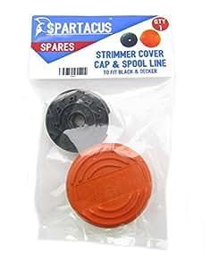 Spartacus cadena línea de cortacésped Recortadora Cover + Compatible Con Black & Decker gl570C GL580gl580C
