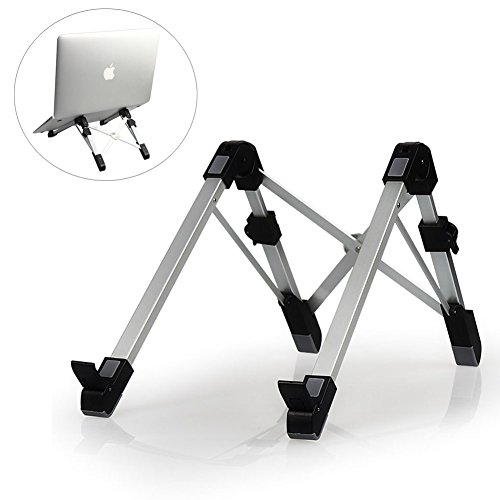 Pano Aluminum Alloy Adjustable Laptop Stand Portable Desktop Computer Foldable Rack Holder Suitable for Notebook & Pad by PANO