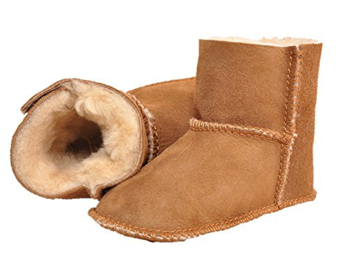 Sheepskin Baby Booties (Exdream Baby Girls Boys Bootie Shoes Winter Warm Snow Boots Velcro 4 M US Toddler Camel)