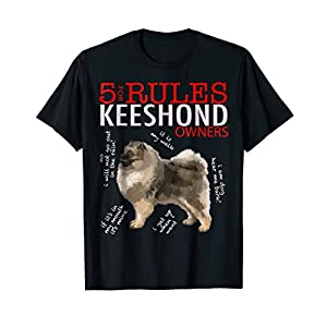 5 Rules for Keeshond Owners tee shirt T-shirt Tshirt 2