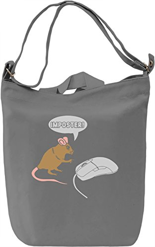 Imposter Mouse Borsa Giornaliera Canvas Canvas Day Bag| 100% Premium Cotton Canvas| DTG Printing|