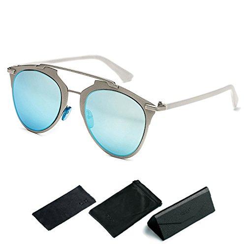 CHB Women's UV400 Retro Color Classic Aviator Sunglasses - Sunglasses Which Faces Small For