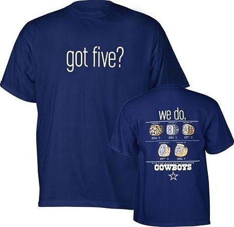 Amazon.com  Dallas Cowboys Got Five Adult T-Shirt (Small)  Clothing 1b7f929e0