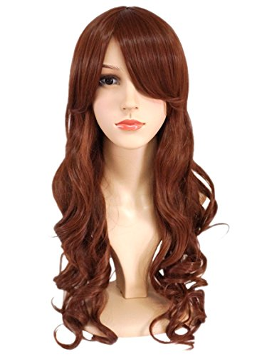 Another Me Wig Women's Long Big Wavy Hair 25 Inches Chestnut Brown Ultra Soft Heat Resistant Fiber Party Cosplay -