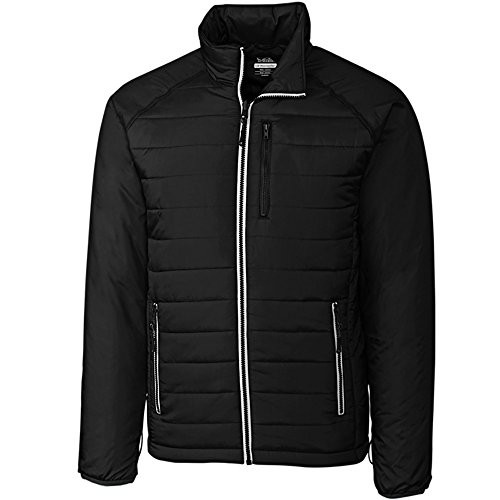Cutter & Buck Men's Spark Systems Packable Barlow Pass Quilted Jacket Black