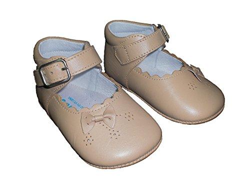 Indice  Merceditas mod1425, Chaussures souples pour bébé (fille) Blanc 20