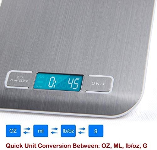 Digital Kitchen Scales Electronic Scales for Cooking High Precise Food Scales with Unit Conversion Switch Premium Stainless Steel Weighing Baking Scales