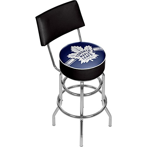 (Trademark Gameroom NHL Toronto Maple Leafs Swivel Bar Stool with Back)