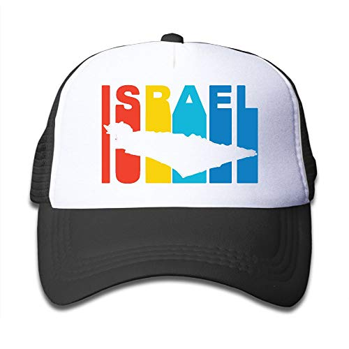 POH08dg Youth Toddler Baseball Cap,Israel Retro 1970's Style Mesh Back Hat Sports Trucker Cap