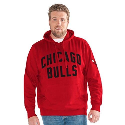 G-III Sports NBA Chicago Bulls Adult Men Big Man Jump Shot Pullover Hoody, 3X, Red