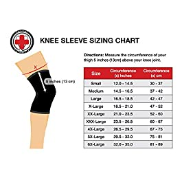 Dr. Arthritis Knee Sleeve & Doctor Written Handbook – Relief for Arthritis, tendinitis, Knee Pain & More (Black, XXXL)