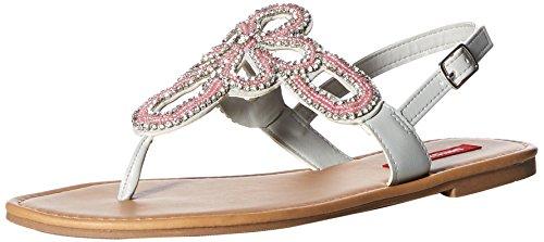 Pink Jeweled Sandal (UNIONBAY Women's Richmond Flat Sandal, Pastel Pink, M070 M US)