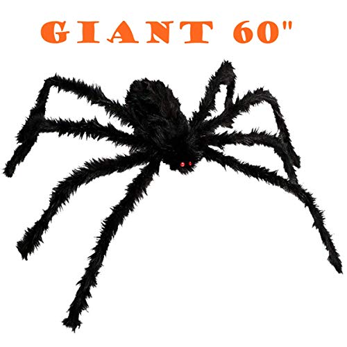 FUNISFUN 60 Inches Halloween Giant Spiders Decoration Props