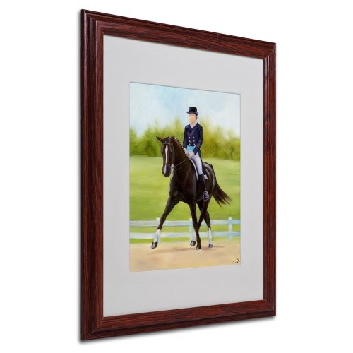 Michelle Moate Horse - Horse of Sport IX Matted Artwork by Michelle Moate with Wood Frame, 16 by 20-Inch