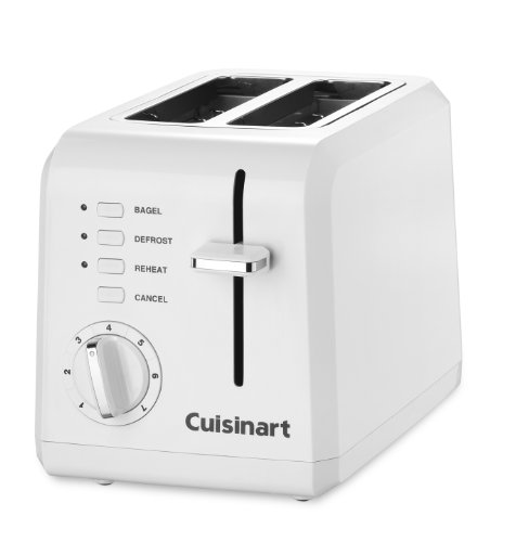 Cuisinart CPT-122 2-Slice Compact Plastic Toaster (White)