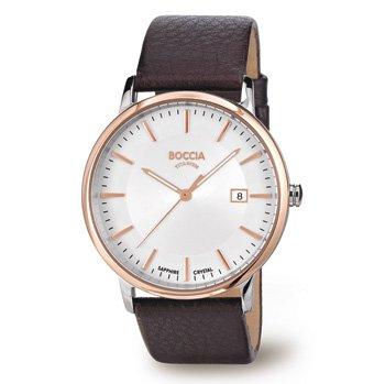 3557-04 Mens Boccia Titanium Watch, with Rose Gold