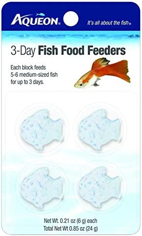 Aqueon Food Fish Feeder, 3-Day, 8 Blocks Total (2 Packs with 4 Blocks per Pack)