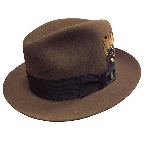 Stetson Men s Saxon Royal Quality Fur Felt Hat at Amazon Men s Clothing  store  cb326947215b