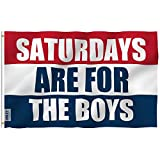 ANLEY [Fly Breeze] 3x5 Foot Saturdays are for The Boys Flag - Vivid Color and UV Fade Resistant - Canvas Header and Double Stitched - Male Fraternity Flags Polyester with Brass Grommets 3 X 5 Ft